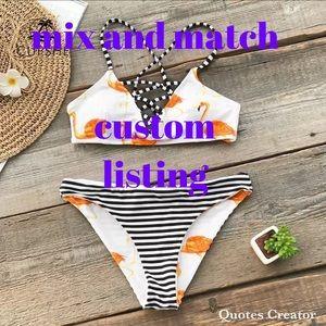 Flamingo bikini- mixed size request